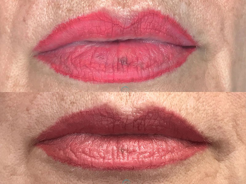 Permanent Lips Tattoo
